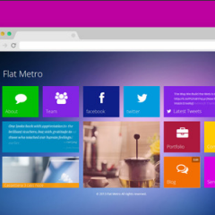 Flat Metro WordPress Theme